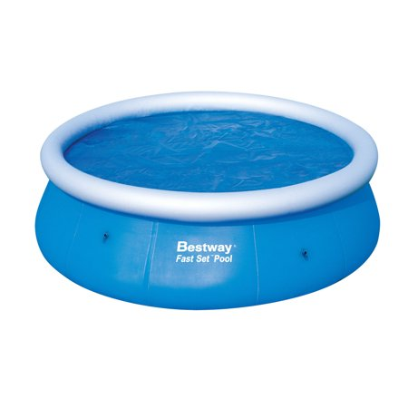 Bestway 12' Solar Pool Cover for Fast Set Above Ground Swimming (Best Way To Get Long Hair Fast)