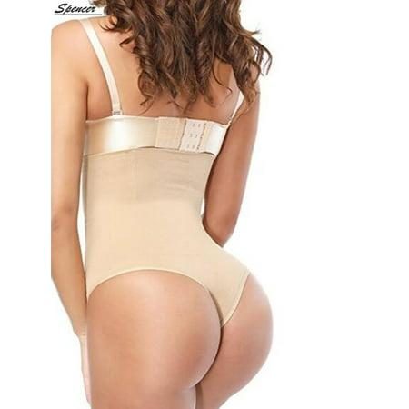 c4db8e59d0e2 Spencer - Spencer Women's Thong Shapewear High Waist Cincher Body Shaper Tummy  Control Panties Slimming Briefs