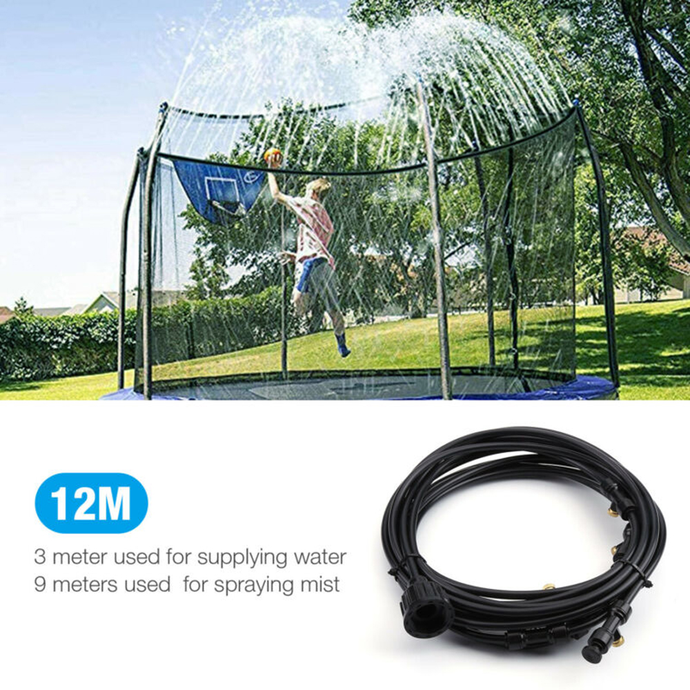 40FT Outdoor Patio Water Mister Mist Nozzles Misting Cooling System Fan Cooler