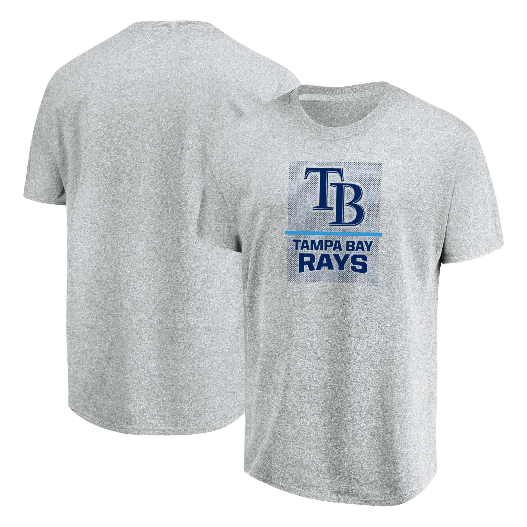 Tampa Bay Rays Majestic Flying High Big & Tall T-Shirt - Heathered Gray