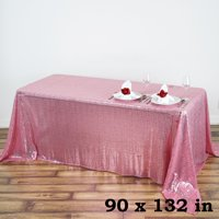 """BalsaCircle 90"""" x 132"""" Sequin Rectangular Tablecloth for Party Wedding Reception Catering Dining Home Table... by BalsaCircle"""