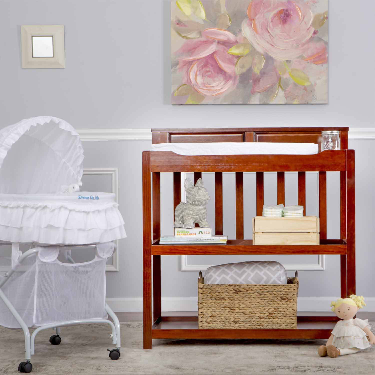 Dream on Me Zoey 3-in-1 Convertible Changing Table, Choose Your Finish