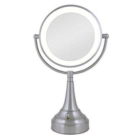 Darby Home Co Round Metal Vanity Mirror With Led Surround Light