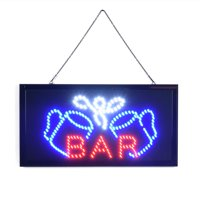 Anauto Super Bright Led Bar Sign Board Pub Club Display Light Lamp for Shop Fronts/Windows, Bar SignLight,Bar led sign board