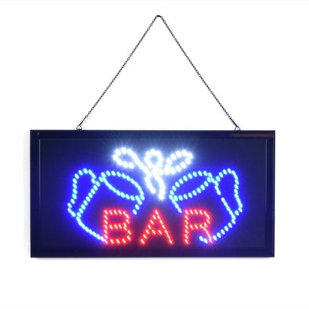 Anauto Super Bright Led Bar Sign Board Pub Club Display Light Lamp for Shop Fronts/Windows, Bar SignLight,Bar led sign board (Led Bar Signs)