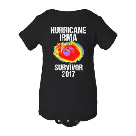Hurricane Irma Survivor 2017 DT Infant Baby Rib Bodysuit (Purple Baby)
