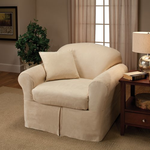 Madison Home Microsuede Box Cushion Armchair Slipcover