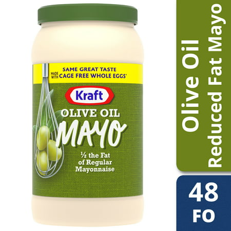 Mayonnaise Whip - Kraft Mayo Reduced Fat Mayonnaise with Olive Oil, 48 fl oz Jar