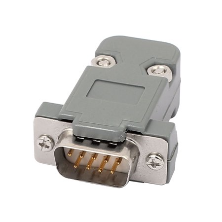 DB9 9-Pins 2 Rows Male Converter Connector Adapter w Plastic Housing Assembly