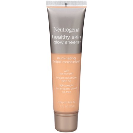 2 Pack - Neutrogena Healthy Skin Glow Sheers Illuminating Tinted Moisturizer, SPF 30, Ivory to Fair [10] 1.1