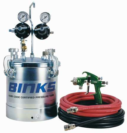 2.8 Gal Tank Otfit with Trans Tech gun BINKS 98-3146