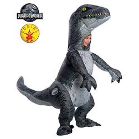 Jurassic World: Fallen Kingdom Velociraptor Adult Inflatable Halloween Costume With Sound - Kingdom Costumes