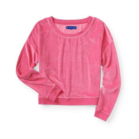 Aeropostale Womens Velour Sweatshirt Pink Velour Hoodie