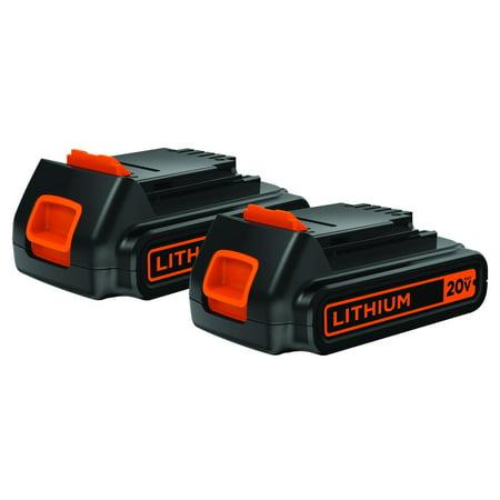 BLACK+DECKER LBXR20B-2 - 20V MAX 2 PACK LITHIUM-ION