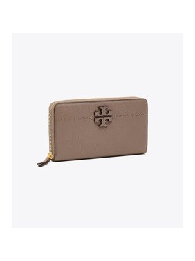 3fff82796bab Product Image Tory Burch 41847-963 McGraw Continental Leather Wallet -  Silver Maple