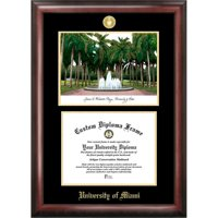 "University of Central Florida 8.5"" x 11"" Gold Embossed Diploma Frame with Campus Images Lithograph"