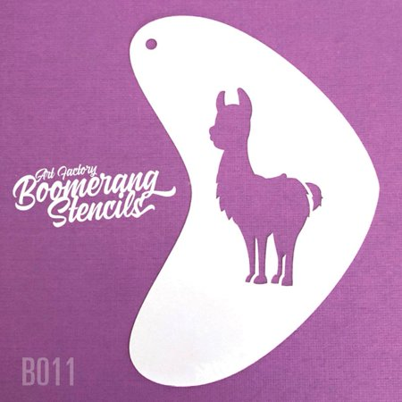 Art Factory Boomerang Stencil - Llama, Reusable Face Painting Stencil, Great for Fairs, Carnivals, Party and Halloween - Halloween Painting Ideas Faces