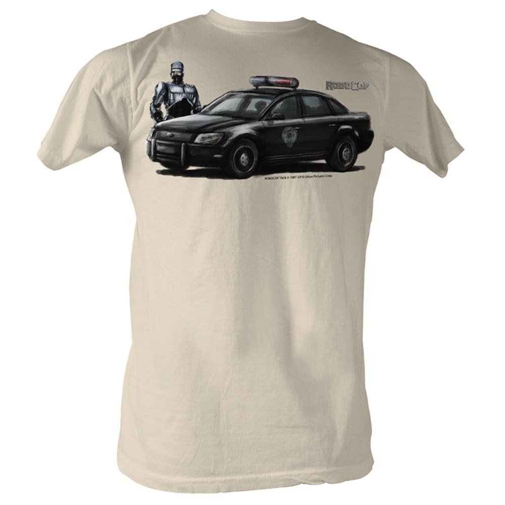 Robocop Movie Robo Car Painting 1 Adult T-Shirt Tee - image 1 of 1