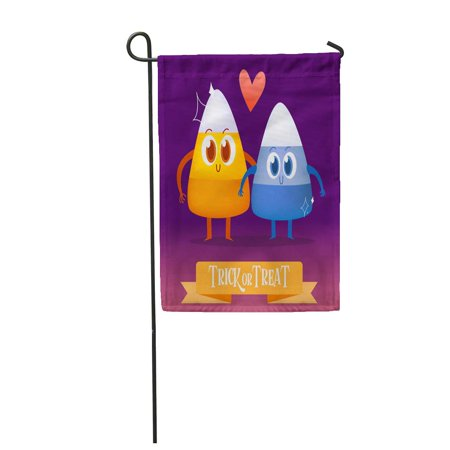 KDAGR Cartoon Candy for Halloween Characters Corn Lollipop Sweet Barley Garden Flag Decorative Flag House Banner 12x18 inch](Halloween Characters Cartoon)