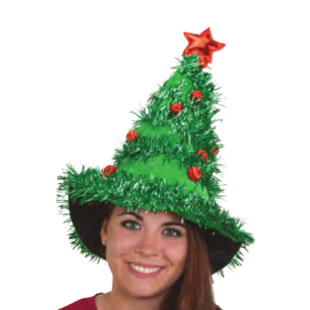 Christmas Tree Hat Costume Headwear Xmas Ornaments Star Garland Prop Cap - Christmas Head Wear