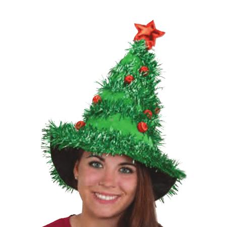 Christmas Tree Hat Costume Headwear Xmas Ornaments Star Garland Prop Cap - Christmas Tree Costumes