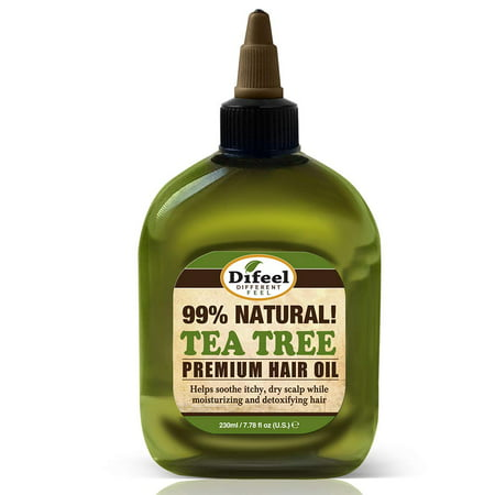 Repair Formula - Difeel Premium Natural Hair Oil - Tea Tree Oil 8 oz. - for Itchy Dry Scalp, Pure Herb Formula with Vitamins, Strengthens & Repairs Hair Follicles, Eliminates Itching & Dandruff, for All Hair Types