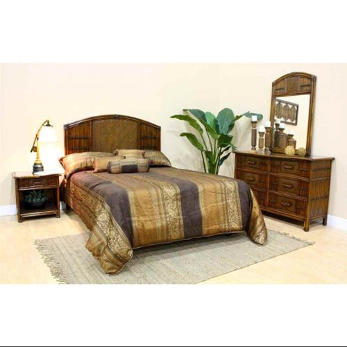 Polynesian 4 PC Twin Bedroom Set in Antique Finish (Twin)