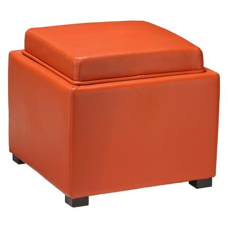 Outstanding Cortesi Home Mavi Storage Ottoman With Tray Short Links Chair Design For Home Short Linksinfo