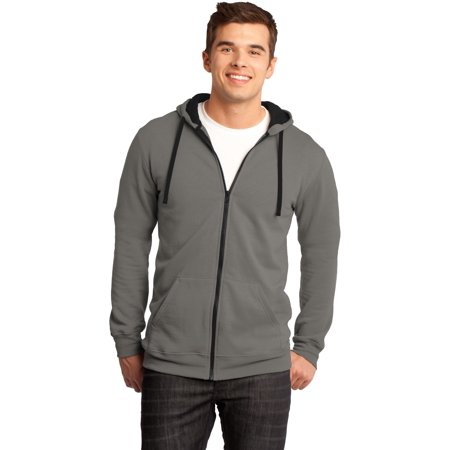 District - Young Mens The Concert Fleece Full-Zip Hoodie