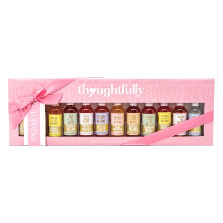 Champagne Toppers Gift Set by Thoughtfully | 12 Refreshing Fruit-Flavored Drink Mixes Including Mango, Raspberry, Peach, Mandarin, and -