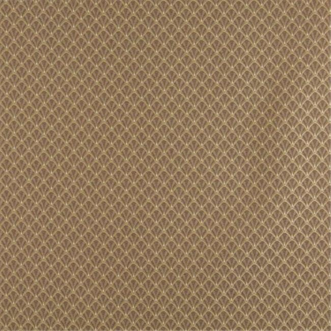 Designer Fabrics D359 54 in. Wide , Brown And Beige Small Scale Shell Jacquard Woven Upholstery Fabric