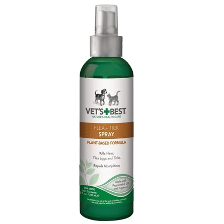 Flea Tick Spray for Dogs 8 Oz Made in USA from Made Vet's (Vet's Best Flea And Tick Spray Ingredients)