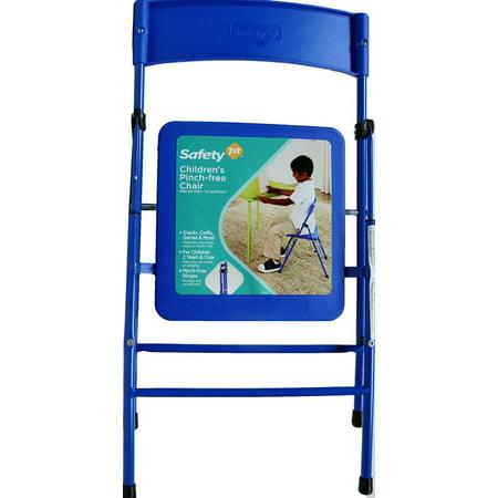Safety 1st Juvenile Children's Pinch-Free Folding Chair, Blue