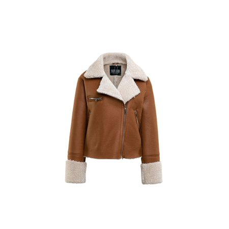 Mark Alan New York Women's Faux Shearling Jacket Marc New York Black Jacket