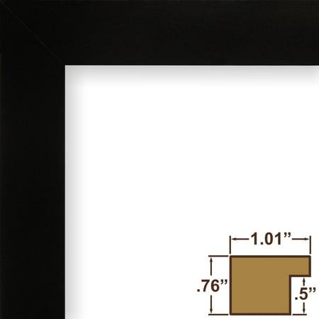 Craig Frames Bauhaus 100, Mystic Satin Black Picture Frame, 10x13 Inch