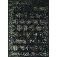 "Loloi Journey Machine Made Jo-08 Black / Charcoal 1'-6"" X 1'-6"" Swatch"