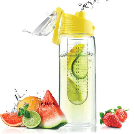 Asobu BTA711SY 20-ounce Pure Flavor 2 Go Water Bottle (yellow)](Yellow Water Bottle)