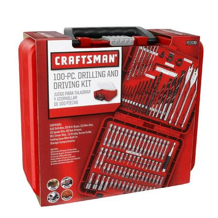 Craftsman Drill Bit Bits Metal Drilling/Screw Driver/Hex Drive Kit-100 Piece Set ACM1001