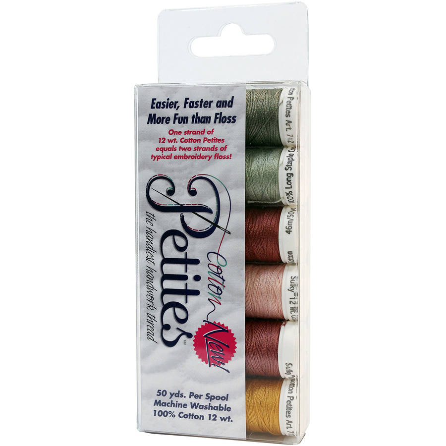Sulky Sampler 12wt Cotton Petites, 6pk, Porch Welcome Rosewood Manor Assortment