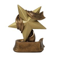 Star Trophy ⭐ Gold Star Award ⭐ Employee Superstar Recognition ⭐ 5 Inch Tall