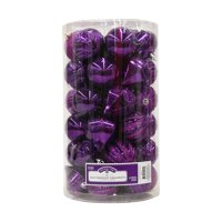 Holiday Time Purple Shatterproof Ornaments, 41 Count