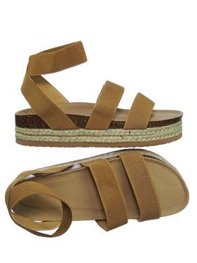 Atarah04 by Forever Link, Elastic Modern rugged Espadrille Flatform Platform Open Toe Sandal