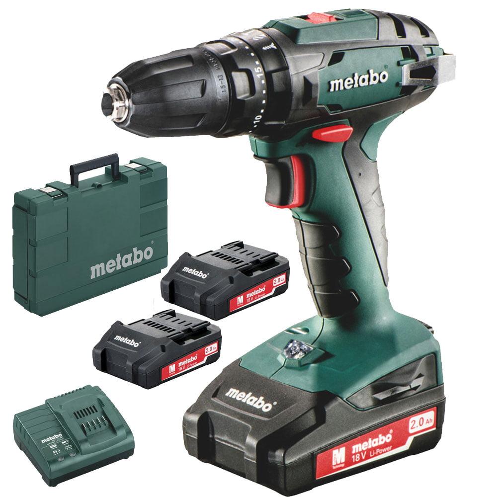 Metabo 602245520 SB 18 Cordless Hammer Drill 3 BATTERIES Kit