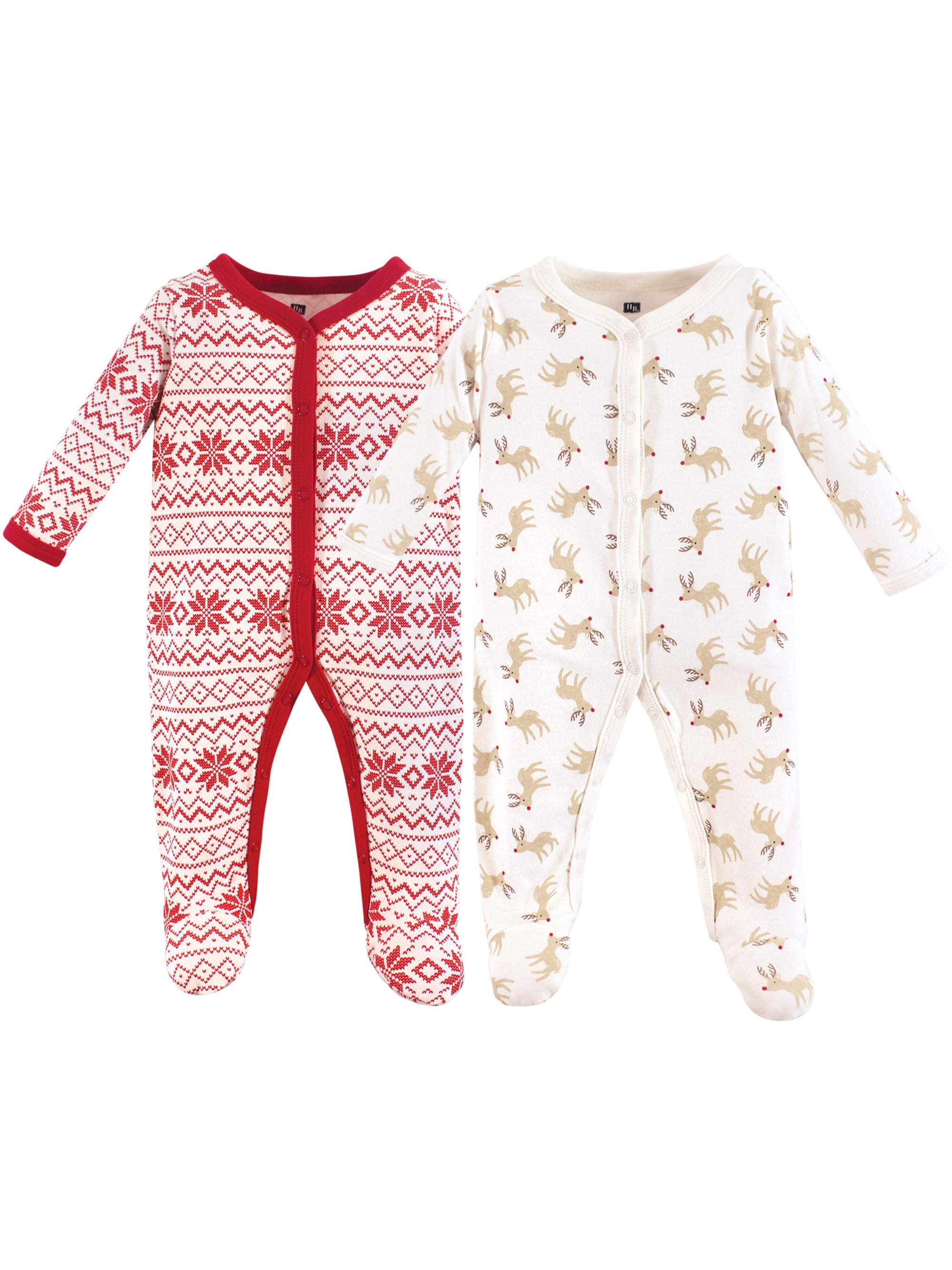 Holiday Sleep N Play Pajamas, 2pk (Baby Boys)