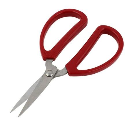 Unique Bargains Home Kitchen Red Rubber Coated Handles Metal Cutter Scissors 15cm Long - Metal Scissors