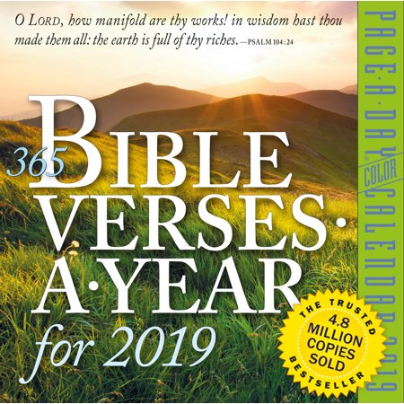 (365 Bible Verses-A-Year Page-A-Day Calendar 2019)