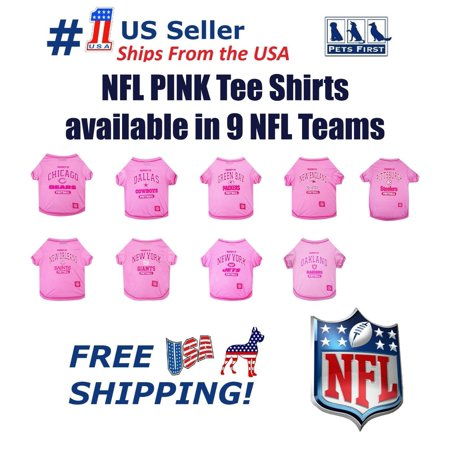 new arrival d070e 58071 Pets First NFL New Orleans Saints Pink Pink Tee Shirts for DOGS & CATS -  Licensed