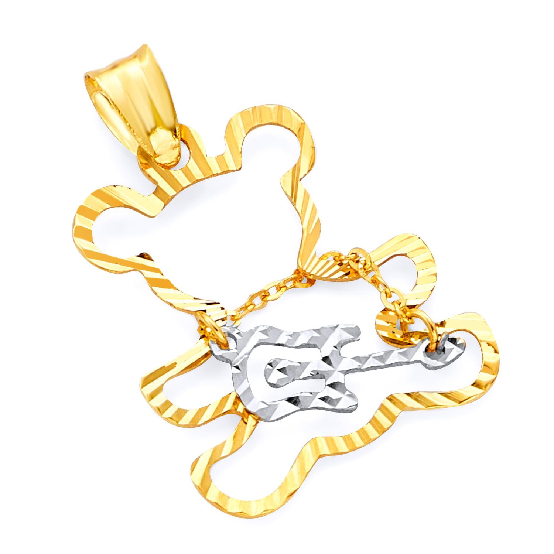 Size : 17 x 9 mm Wellingsale 14k Yellow Gold CZ Cubic Zirconia Smile Pendant