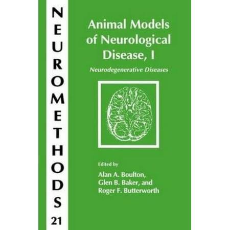 Animal Models Of Neurological Disease  I