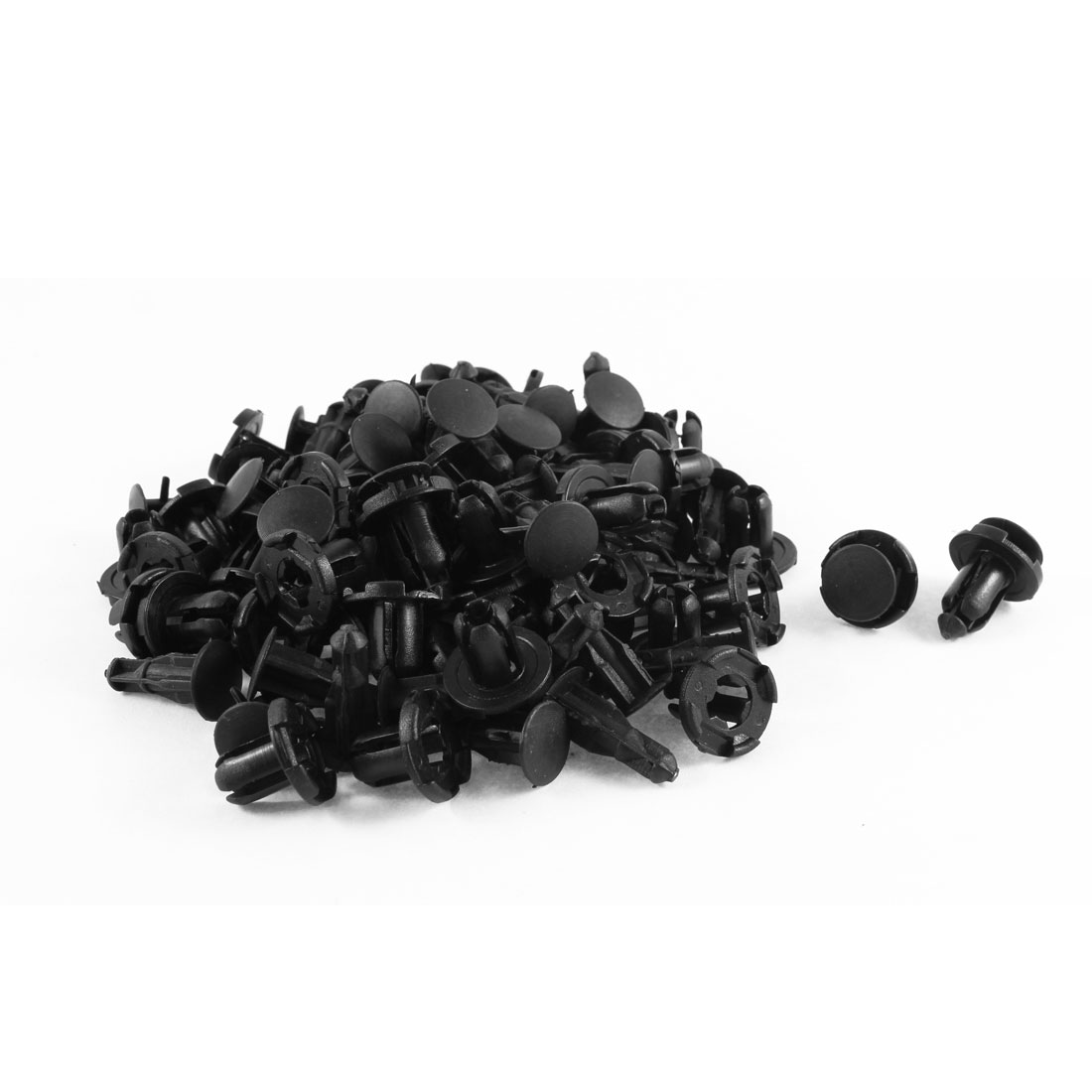50 Pcs 9mm Hole Dia Bumper Fender Plastic Rivets Retainer Clip Black for Honda - image 1 de 1